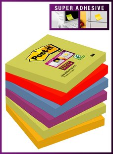 Viestilappu 76x76mm POST IT Super Sticky - Viestilaput ja telineet - 134030 - 1